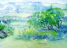 View through the Gap Wicklow Original by ARTbyTRUDI on Etsy