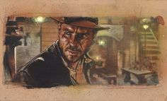 Indiana Jones, Harrison Ford Original Painting By Jeff Lafferty #Realism