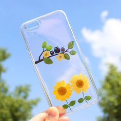 Cute Owl Real Pressed Flower Daisy Soft TPU Case for iPhone 6 Plus / 6S Plus 5.5 inch