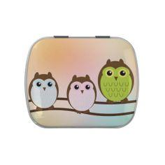 Owls Candy Tin #Rose #Flower #LaptopSleeve
