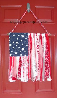 Shabby Chic American Flag - Not Just Paper and Paint