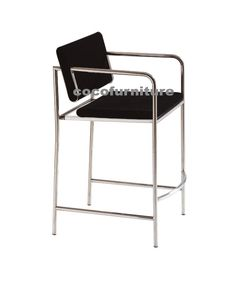 Bar Chair (BC-28002) Leather/ PU/ fabric cover, High density sponge Stainless steel frame Bar Chairs, Fabric Covered, Steel Frame, Stainless Steel, Leather, Furniture, Home Decor, Bar Stool Chairs