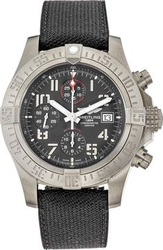 Breitling Men's 'Avenger' Chronograph Grey Fabric Watch, Gray Size: One Size Fits All Breitling Superocean Heritage, Breitling Navitimer, Breitling Watches, Breitling Chronograph, High End Watches, Cool Watches, Fine Watches, Sport Watches, Elegant Watches