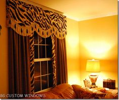 1000 images about cornice diy ideas on pinterest for Animal print window treatments