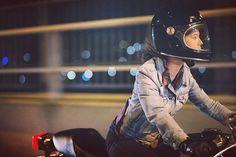 I have a little motorcycle story. Read it here: www.storiesofbike.com  Photo by: @storiesofbike #secondskin #cb400f #hondacustomcycles #caferacer #croig #moto #womenwhoride #bellbullitt #petrolette #caferacerxxx #hobart #livinlevis #nightphotography #bokeh