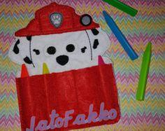 Fuego cachorro sintió porta crayones por TreasuredForever en Etsy Ideas Para Fiestas, Cristiano, Felt Toys, Paw Patrol, Felt Crafts, Kids And Parenting, Party Favors, Preschool, Holiday Decor