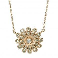 Nam Cho: Champagne Diamond Flower Necklace
