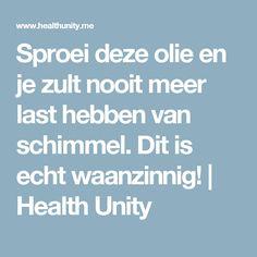Sproei deze olie en je zult nooit meer last hebben van schimmel. Dit is echt waanzinnig! | Health Unity