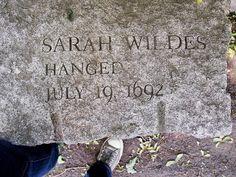 Sarah Wildes' marker, Witch Trials Memorial