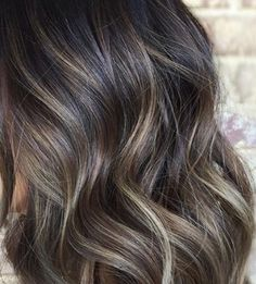 Hair Color Balayage, Hair Highlights, Ashy Balayage, Hair Color And Cut, Brunette Hair, Great Hair, Fall Hair, Hair Today, Gorgeous Hair