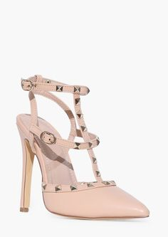 Arya Studded Pumps in Nude