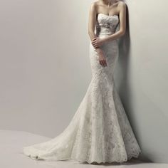 New style Mermaid Lace Beaded Wedding dress Bridal gowns Wedding gowns Wedding Dress Train, Blue Wedding Dresses, Wedding Dress Styles, Designer Wedding Dresses, Bridal Dresses, One Shoulder Wedding Dress, Wedding Gowns, Lace Wedding, Wedding White