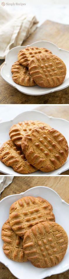 Best Peanut Butter Cookies EVER! Easy to make, classic peanut butter cookie recipe, made with flour, sugar, butter, egg, and peanut butter. Great to bring to a holiday celebration! On SimplyRecipes.com