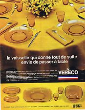 Publicité Vereco 1969 A Table, France, Box Sets, Wrapping, Tableware, French