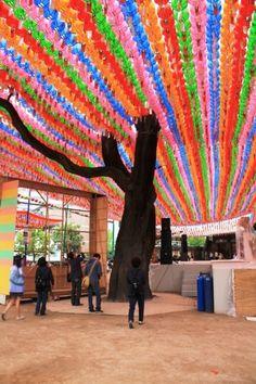 Lotus Latern Festival celebrating buddhas birthday in Seoul, South Korea