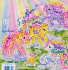 A vintage 80's My Little Pony backcard. <3