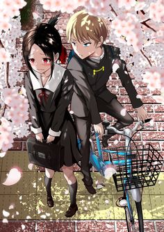 Anime kaguya-sama - Kaguya Sama Love is War Otaku Anime, Manga Anime, Anime Amor, Wallpaper W, Humour Geek, Fan Art Anime, Manga Couple, Tsundere, Cute Anime Couples