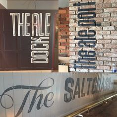 Various hand painted signs by Ron Carroll