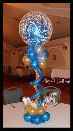 www.elegant-balloons – beautiful filigree sweet 16 - Decoration For Home Sweet 16 Decorations, Balloon Bouquet, Bar Mitzvah, Filigree, Wine Glass, 16 Balloons, Ballons, Elegant, Beautiful Decoration