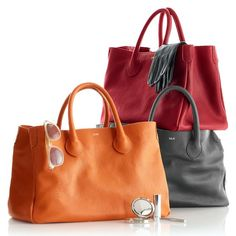 love these slouchy leather bags, but not a fan of the orange color http://rstyle.me/n/sasjvr9te