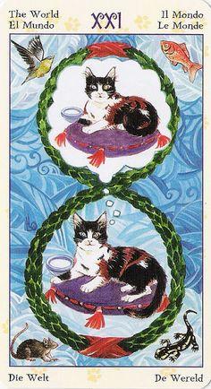 The World - Tarot of Pagan Cats