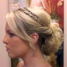 braids, wedding hair, messy updo