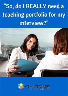 Advice on teaching portfolios from other teachers