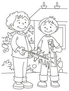 Happy Diwali Free Coloring Pages Coloring Sheets for Kids New Year Coloring Pages, Cars Coloring Pages, Disney Coloring Pages, Christmas Coloring Pages, Diwali Festival Drawing, Diwali Drawing, Drawing Sheets For Kids, Coloring Sheets For Kids, Diwali For Kids