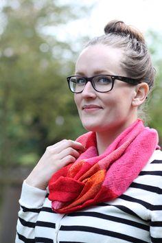 I love this scarf by http://www.etsy.com/shop/amberkane