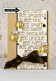 The Alley Way Stamps: April Release Sneak Peek Day 2 - BEE Sweet! Annikarten: The Alley Way Stamps Stamp sets: BEE Sweet, Got it Covered, The Alley Way Stamps, TAWS, cards, clear stamps