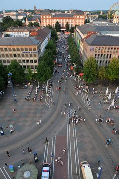 """Darmstadt, Germany has successfully implemented the 'confusion concept' around its main square.""  - www.fieldpaoli.com"