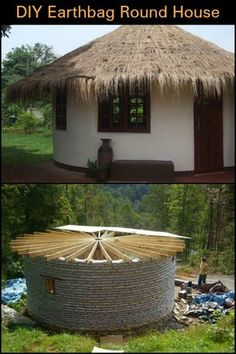 Could You Live in a Home Made From Earthbags? Sustainable Architecture, Natural Architecture, Residential Architecture, Contemporary Architecture, Round House Plans, Earth Bag Homes, Yurt Living, Geodesic Dome Homes, African House