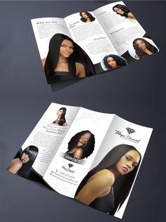 brochure design for Blaque Diamond Hair by Sumaiya