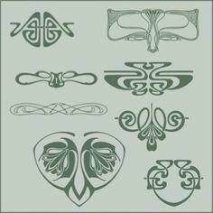 art nouveau symboles
