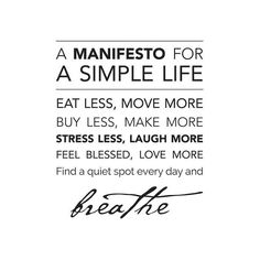 Manifiesto para la vida