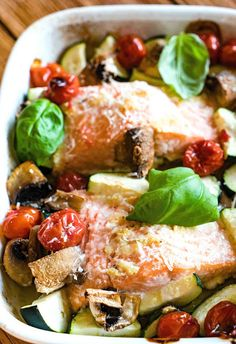 stuttgartcooking: All in One, Lachs-Champignons-Zucchini-Tomate-Knob...