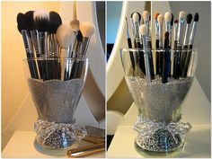 Love This Idea For Makeup Brushes And Easy To Get Too!!