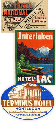 Charming vintage luggage label