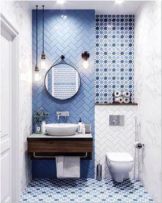 Best of small bathroom ideas bathroom interior design 04 Small Bathroom Tiles, Bathroom Tile Designs, Tiny House Bathroom, Bathroom Design Small, Bathroom Interior Design, Funny Bathroom, Bathroom Wall, Gold Bathroom, Wall Tile