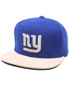 wholesale dealer 8e64d 32444 Mitchell   Ness   New York Giants Nfl Throwback Suede Strap Adjustable Cap New  York Giants