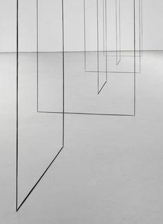 Fred Sandback - Untitled (Sculptural Study, Six-part Construction) (detail), ca. 1977/2008. Black acrylic yarn
