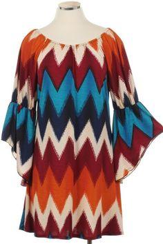 Kelly Brett Boutique: Women's Online Clothing Boutique - Plus Size Chevron Dress Burgundy, $44.00 (http://www.kellybrettboutique.com/plus-size-chevron-dress-burgundy/)