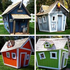 love these crooked kids playhouses.... A super CUTE pool house.... I want one!!!!!