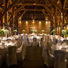 Cooling Castle Barn, Kent, England-  I love te atmosphere because you onl need table flowers and christmas lights and it's gorgeous!