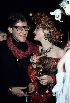 Loulou de la Falaise - In 1972, this madcap French-English beauty started working side-by-side with Saint Laurent as an accessories designer and in-house muse. She was, Saint Laurent, told Vogue, féerique, or elfin.