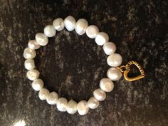 Fresh water pearls with heart Www.edenstones.com