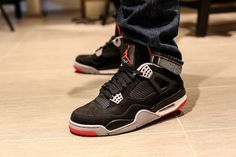 #Air Jordan IV Bred