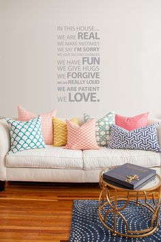 Wall Sticker for the home. @vinylimpression