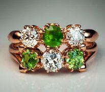 demantoid diamond rings