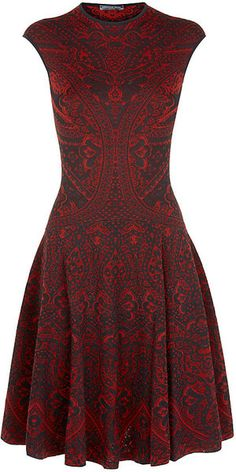 Lace Jacquard Circle Dress from Alexander McQueen's fall 2013 collection.